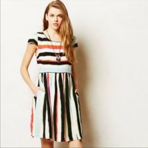 Maeve multicolored stripe dress